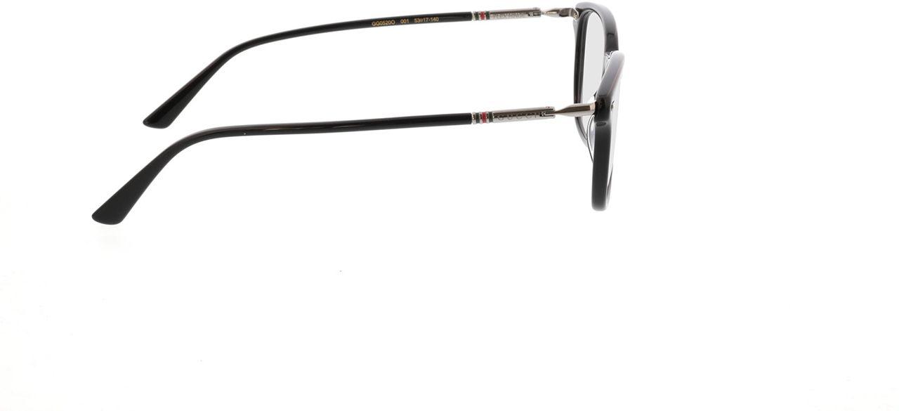 Picture of glasses model Gucci GG0520O-001 53-17 in angle 90
