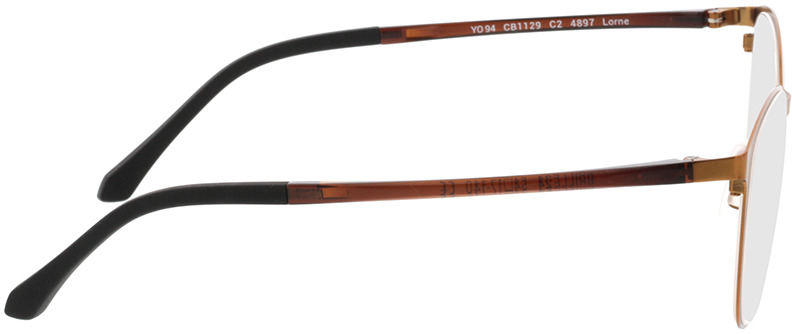 Picture of glasses model Lorne-kupfer in angle 90