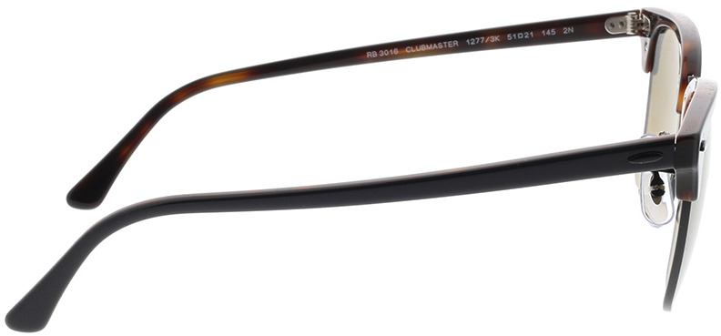 Picture of glasses model Ray-Ban Clubmaster RB3016 12773K 51-21 in angle 90