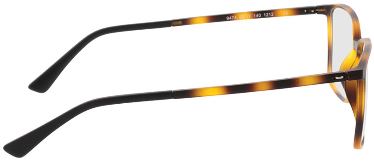 Picture of glasses model Elvas-matt havana in angle 90