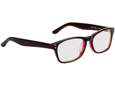 Brille Nantes-schwarz/transparent rot