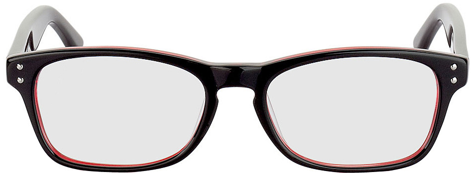Picture of glasses model Nantes noir/transparent/rouge in angle 0