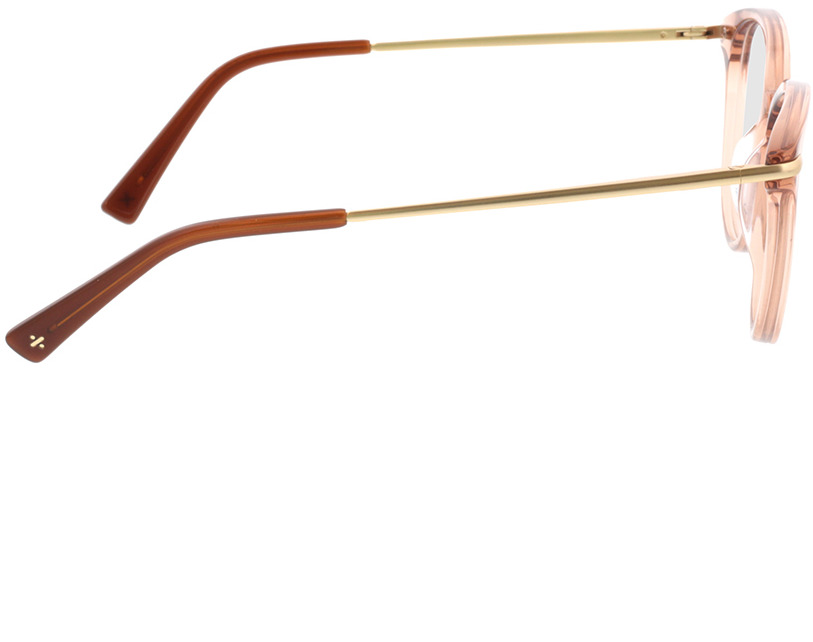 Picture of glasses model Sienna-beige transparent in angle 90