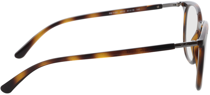 Picture of glasses model Ray-Ban RX7190 2012 51 in angle 90