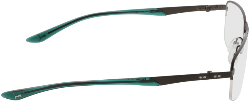 Picture of glasses model Puma PU0094O 006 57-18 in angle 90