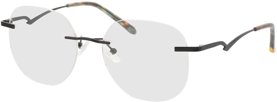 Picture of glasses model Gardena Zwart in angle 330