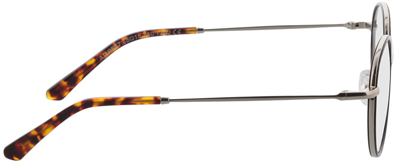 Picture of glasses model Moody-silber/dunkelbraun-meliert in angle 90