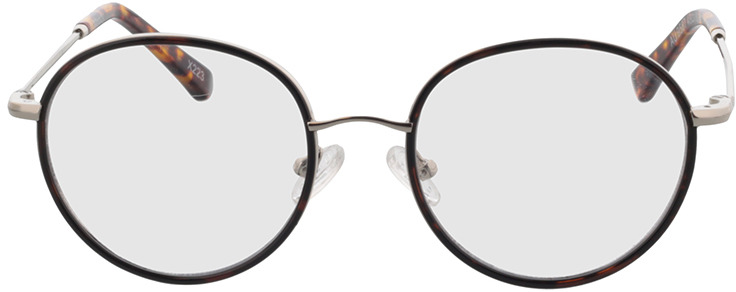 Picture of glasses model Moody-silber/dunkelbraun-meliert in angle 0