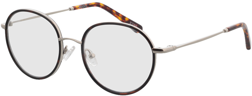 Picture of glasses model Moody-silber/dunkelbraun-meliert in angle 330