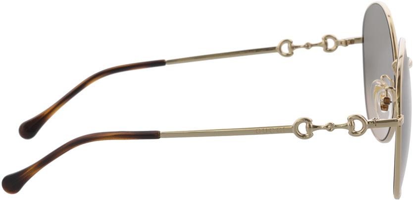 Picture of glasses model Gucci GG0881SA-002 59-19 in angle 90