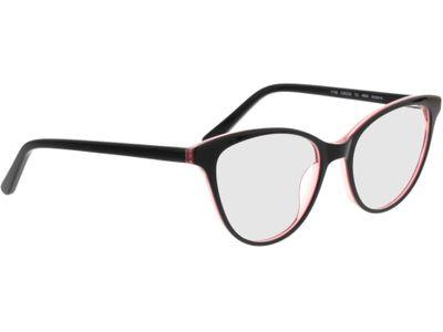 Brille Andorra-schwarz/rot