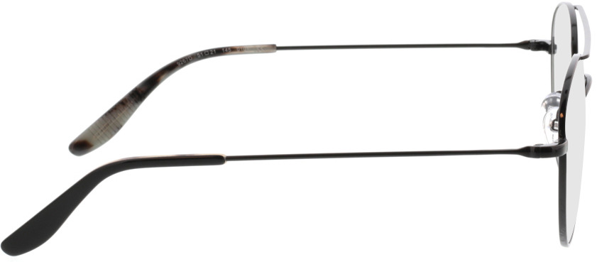 Picture of glasses model Logan-schwarz in angle 90