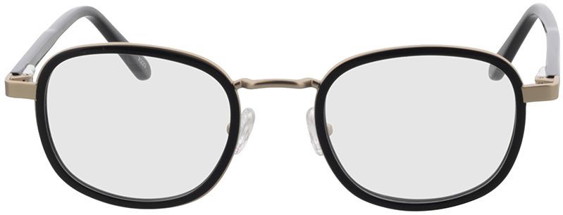 Picture of glasses model Crosby-matt gold/schwarz in angle 0