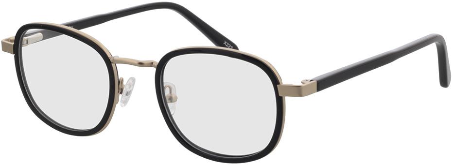 Picture of glasses model Crosby-matt gold/schwarz in angle 330