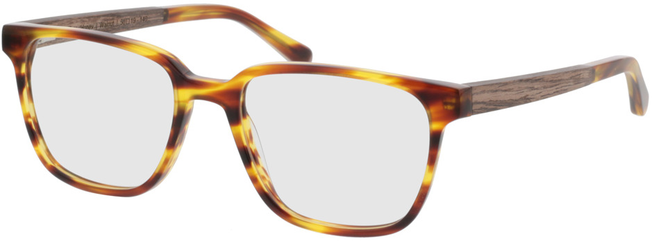 Picture of glasses model TAKE A SHOT Faro Honey RX: Walnussholz 50-19 in angle 330