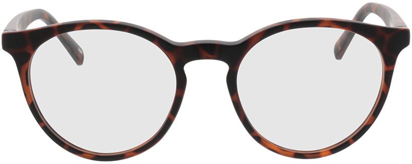 Picture of glasses model Oxalis bruin-gevlekt in angle 0