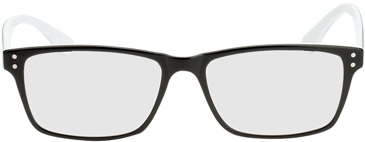 Picture of glasses model München-schwarz/weiß in angle 0