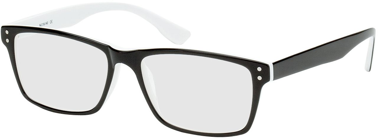 Picture of glasses model München-schwarz/weiß in angle 330