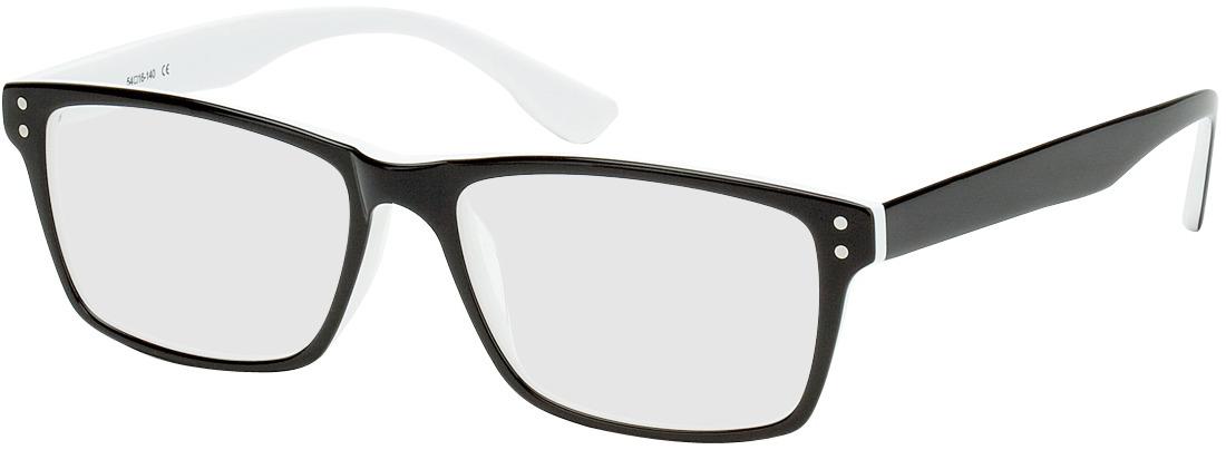 Picture of glasses model München black/white in angle 330