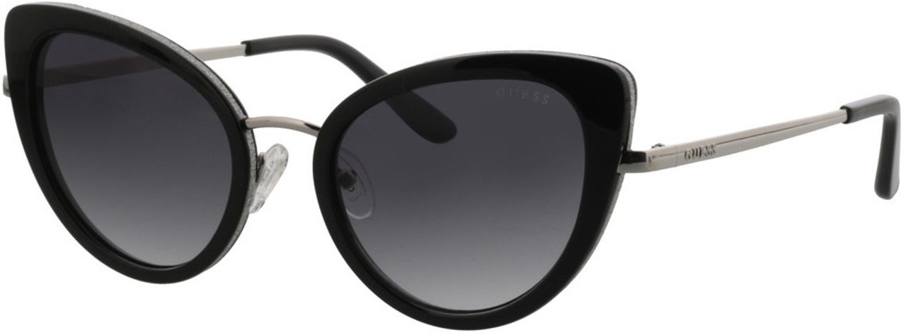 Picture of glasses model Guess GU7603 01B 52-20 in angle 330