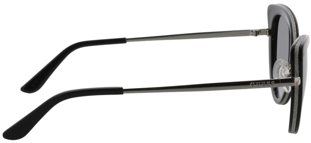 Picture of glasses model Guess GU7603 01B 52-20 in angle 90