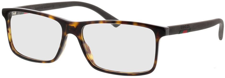 Picture of glasses model Gucci GG0424O-006 58-16 in angle 330