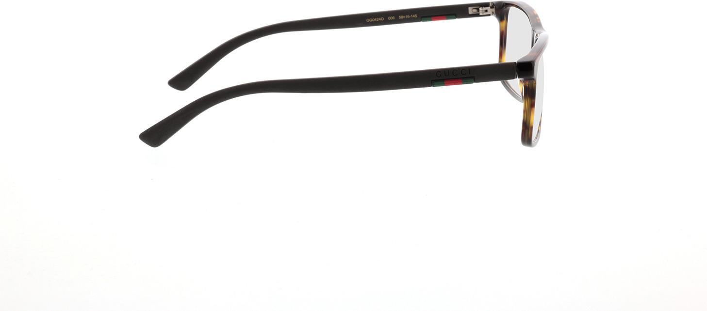 Picture of glasses model Gucci GG0424O-006 58-16 in angle 90