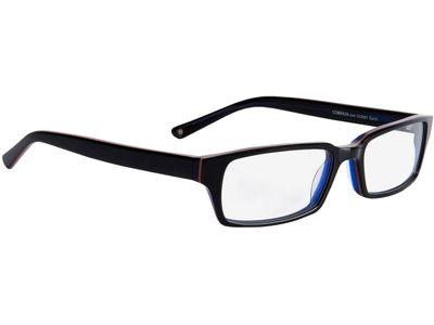 Brille Capuno-schwarz/dunkelblau