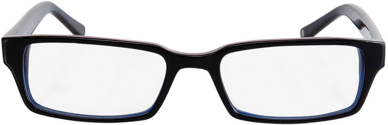 Picture of glasses model Capuno-black-blue in angle 0