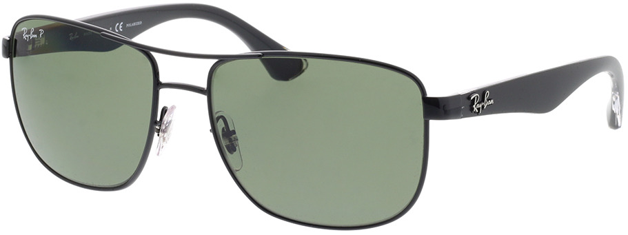 Picture of glasses model Ray-Ban RB3533 002/9A 57-17 in angle 330