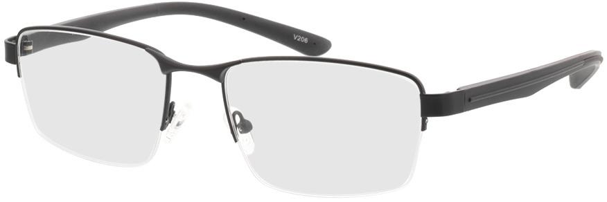 Picture of glasses model Teos-matt schwarz in angle 330