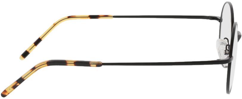 Picture of glasses model Lumos-matt schwarz  in angle 90