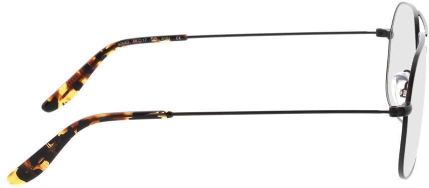 Picture of glasses model Remo-matt schwarz  in angle 90