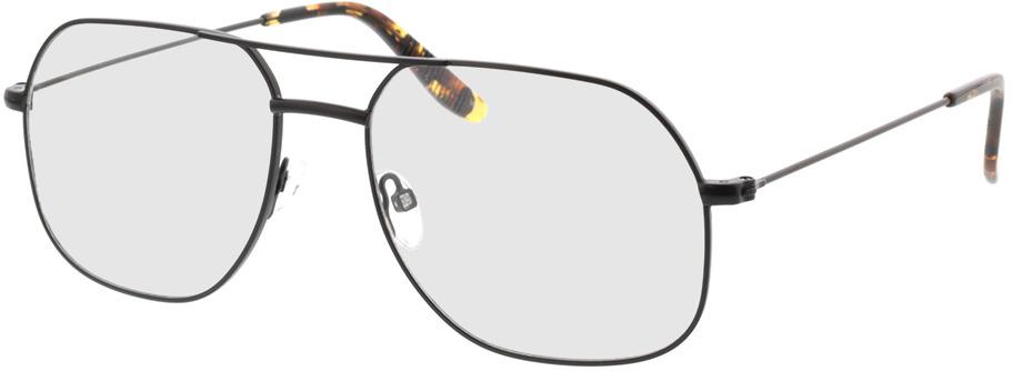 Picture of glasses model Remo-matt schwarz  in angle 330