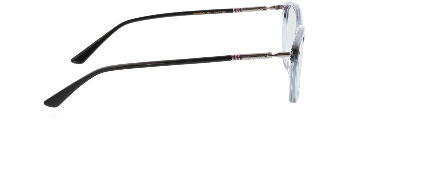 Picture of glasses model Gucci GG0520O-003 53-17 in angle 90