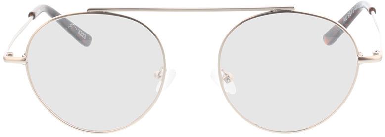 Picture of glasses model Hico-matt silber/braun-meliert in angle 0