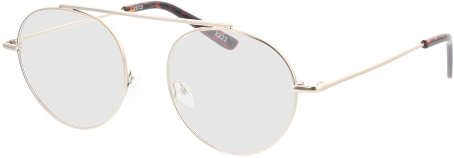 Picture of glasses model Hico-matt silber/braun-meliert in angle 330