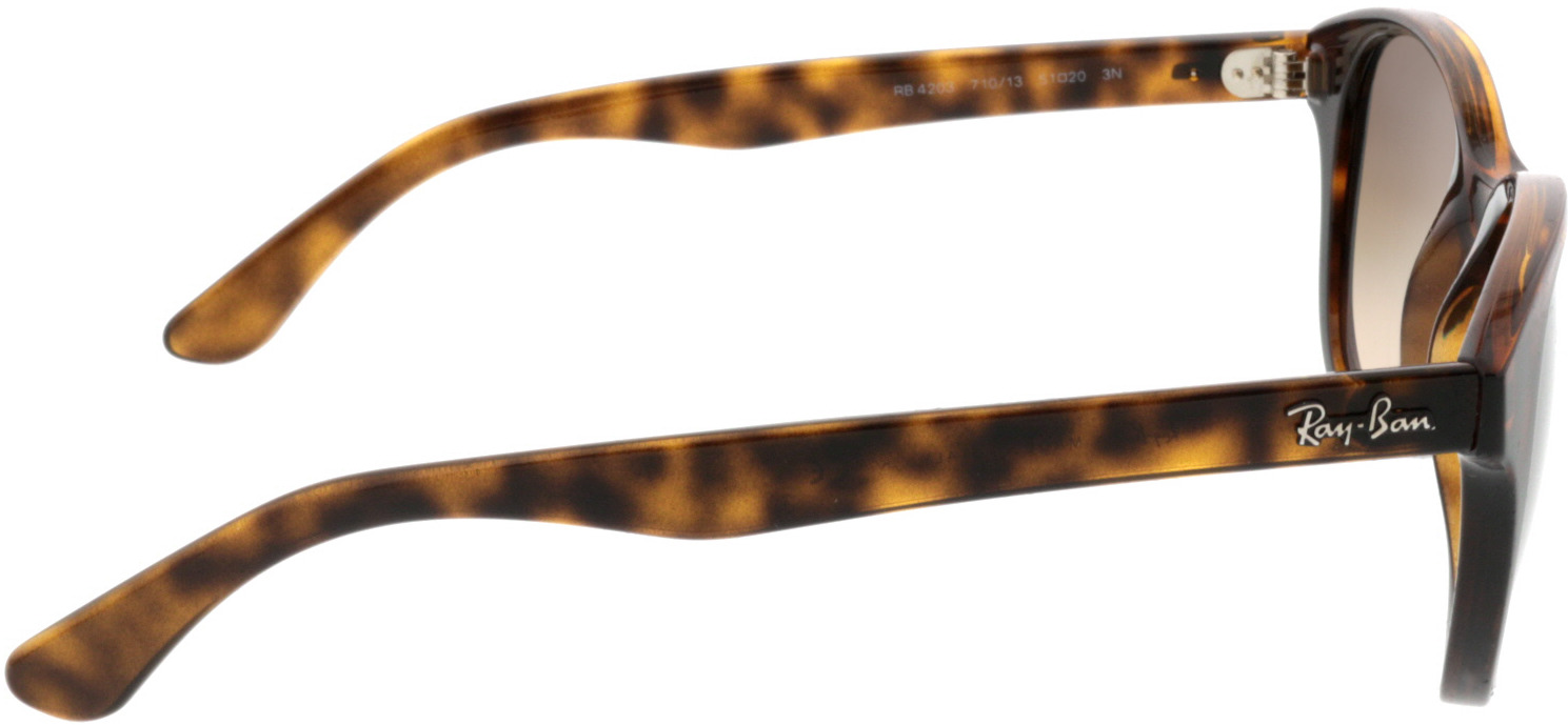 Picture of glasses model Ray-Ban RB4203 710/13 51-20 in angle 90