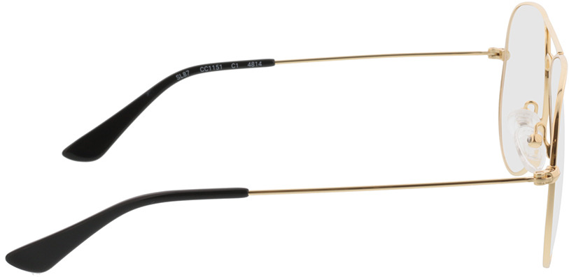 Picture of glasses model Manhattan gold in angle 90