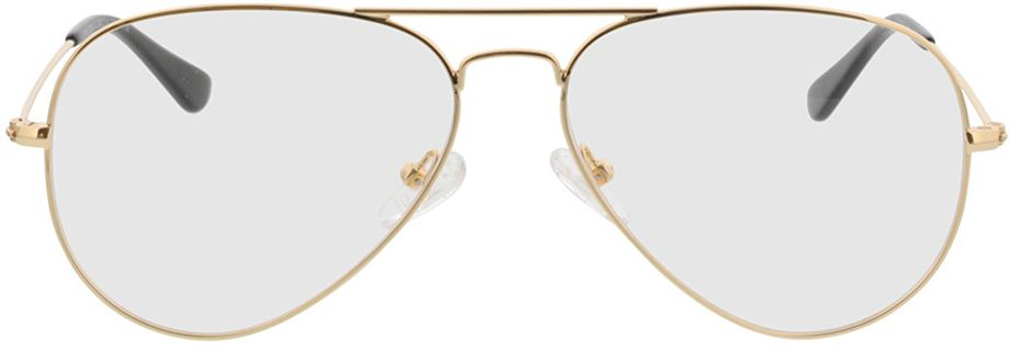 Picture of glasses model Manhattan-gold in angle 0