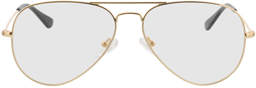 Picture of glasses model Manhattan gold in angle 0