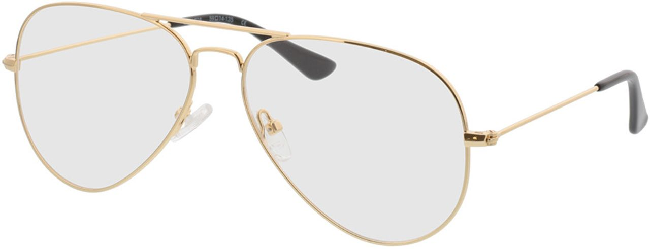 Picture of glasses model Manhattan-gold in angle 330