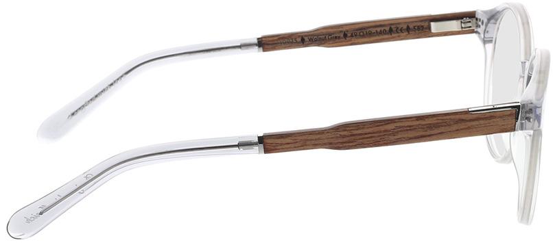 Picture of glasses model Wood Fellas Optical Solln Premium walnut/grey 49-19 in angle 90