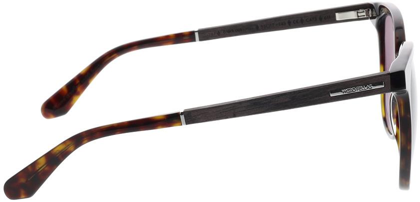 Picture of glasses model Wood Fellas Sunglasses Moyland zwart oak/havana 55-17 in angle 90