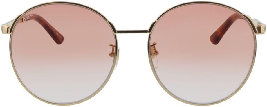 Picture of glasses model Gucci GG0206SK-004 58-17  in angle 0
