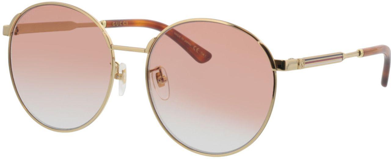 Picture of glasses model Gucci GG0206SK-004 58-17  in angle 330