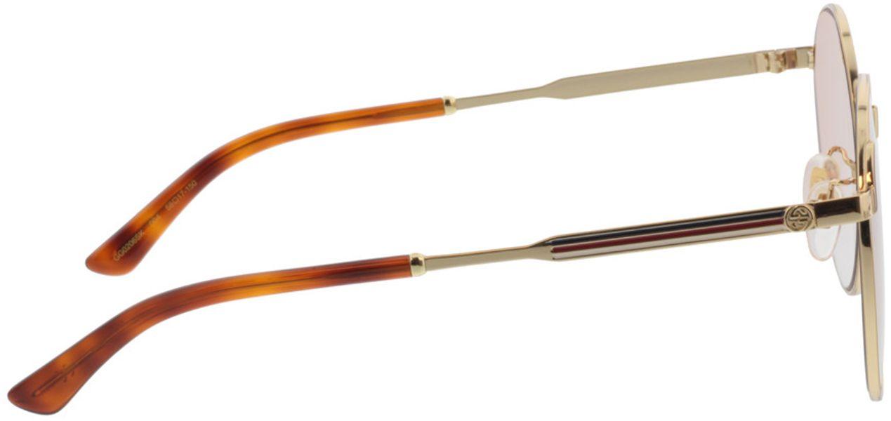 Picture of glasses model Gucci GG0206SK-004 58-17  in angle 90