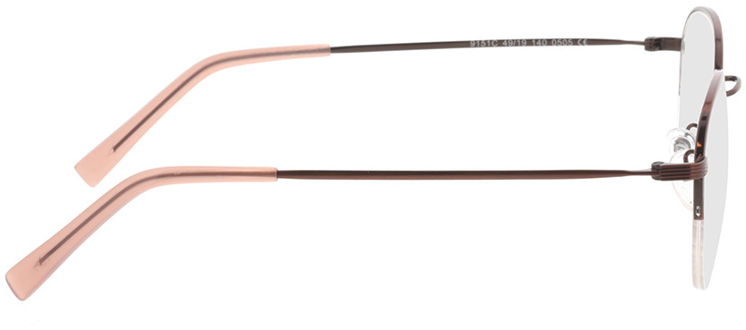 Picture of glasses model Zoe-braun in angle 90