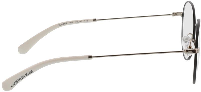 Picture of glasses model Calvin Klein Jeans CKJ19106 001 49-20 in angle 90