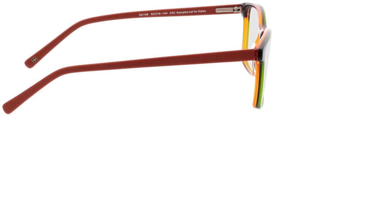 Picture of glasses model Marzio-grün schwarz orange in angle 90